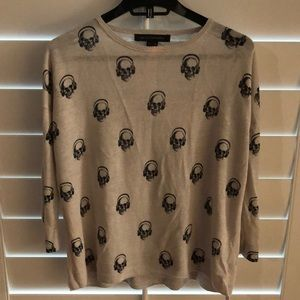 Skull Cashmere light summer sweater
